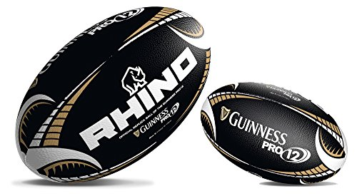 Rhino Guinness Pro12 schwarz Supporters Rugbyball Midi