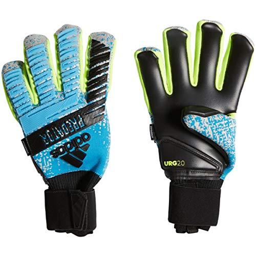 adidas Herren Predator Pro Fingersave Torwarthandschuhe, Bright Cyan/Silver met./Solar Yellow/Black, 10.5