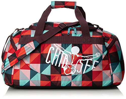 Chiemsee Unisex-Erwachsene Sporttasche Matchbag Medium Reisetasche, Magic Triangle Red 56 x 27 x 29 cm, 43 Liter