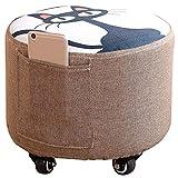 Lxzhi-Petit tabouret Kreative Hocker Home Fashion Sofa Erwachsene Kinder Kleiner Stuhl Einfache Moderne Stoff Hocker Runde