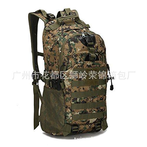 Camouflage Double Shoulder Bag wandern outdoor Bags wandern Taschen 48 * 32 * 16 cm, drei sand Camouflage Dschungel Digital