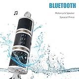 Wasserdichte Motorrad Lenker Halterung Bluetooth Lautsprecher, Maso 12V Bike HiFi mit Stereo Sound System für ATV Jet Ski Radio Fernbedienung Alarm FM Radio MP3-Player