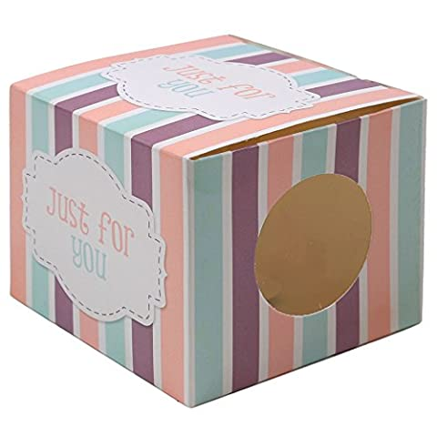 18x Single Cupcake Gift Boxes - Clear Window Birthday/Party Muffin/Fairy Cake Cases