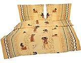 Heubergshop 2-teilige Seersucker Bettwäsche 155x220cm und 80x80cm - Afrika Ägypten Mumie - Bettgarnitur aus 100% Baumwolle, bügelfrei, übergröße (S-142/1)