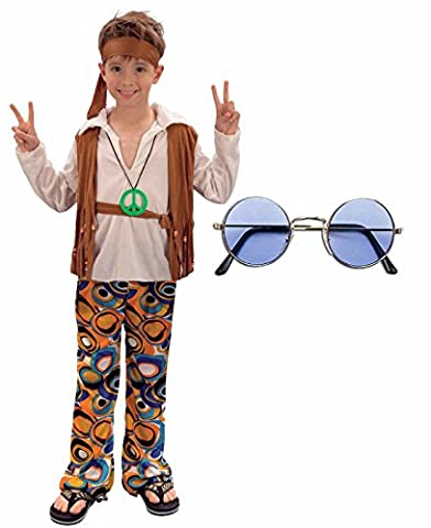 Girl Costume Hippie - Boys Girls 60s 70s Hippy Fancy Dress