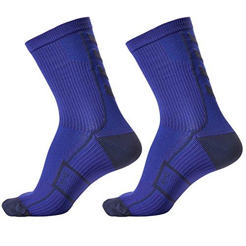 hummel Socken Tech Indoor Sport Sock Low 2 Paar (Palace Blue/Microchip (8644), 41-45 (Size 12))