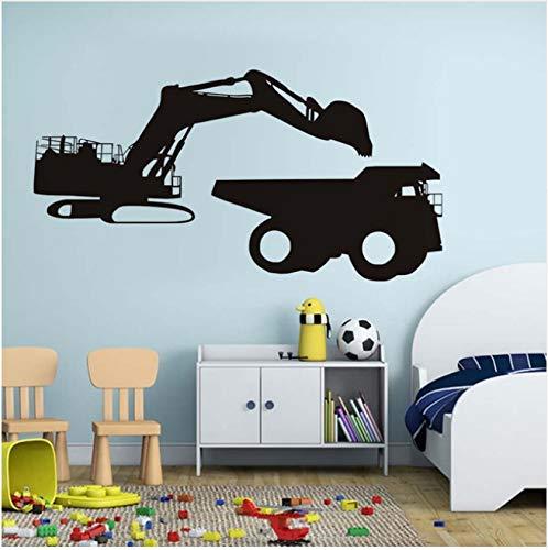 Auto wandaufkleber bagger laden vinyl abnehmbare wasserdichte tapete wohnzimmer schlafzimmer kunst aufkleber dekoration 83x43 cm