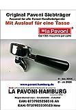 Pavoni Siebträger Original mit Auslauf für eine Tasse, passend bis Ende 2005