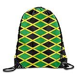 Yesliy Flagge von Jamaika Kordelzug Rucksack Beam Mund Gym Sack Rucksack Schultertaschen für Männer & Frauen