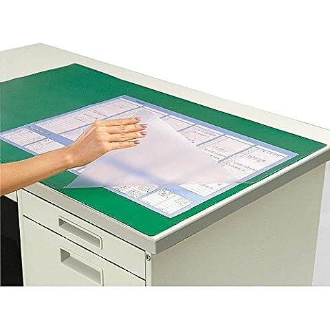 Kokuyo-Tappetino da scrivania con calendario di cloruro di vinile, di elasticità antiscivolo trasparente, heck Taipuma-51 (japan