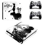 THTB Playstation 4 Slim + 2 Controller Aufkleber Schutzfolien Set - Kingdom Hearts /PS4 S