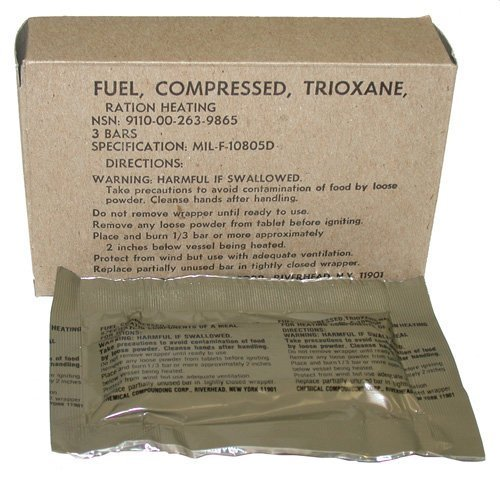 G.I. Trioxane Heating Fuel Bars by Numrich Gun Parts Corp.