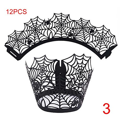 (lzn 12x Cupcake Wrappers, Cupcake Förmchen Halloween Party Decor Accessories)