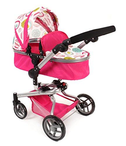 Bayer Chic 2000 593 07 - Kombi-Puppenwagen YOLO, weiß/rosa