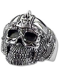 etNox - Ring ''Biker Skull'' 925 Silber
