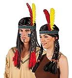 Boland 44120 - Stirnband Indianer, Einheitsgröße, mehrfarbig -