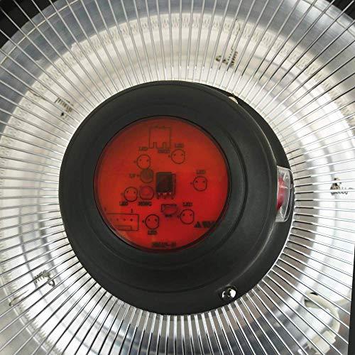 PrimeMatik – Decke Heizung Heizkörper für Innen und Außen Bar Restaurant Terrasse 420mm 1500W mit Fernbedienung - 4