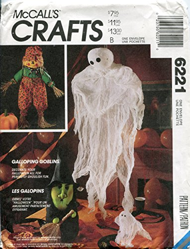 McCall's 6221 Crafts Pattern, Halloween Package - Scarecrow Doll, Witch, Pumpkin and Ghosts by McCall's