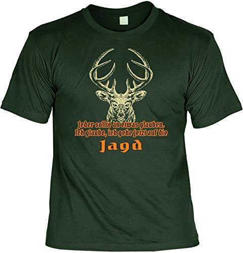 irt Geschenk Set : Ich gehe jetzt auf die Jagd - Jäger Shirt + Minishirt Farbe: dunkelgrün Gr: M ()
