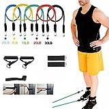 Haosen 11 Stück/set übungen fitnessband latex fitnessband elastische bänder training Stretch-Widerstand-Bänder Fitnessbändern - Gewichtsverlust/Fitness/Körperformung/Krafttraining - leicht zu tragen