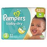 Pampers Baby-Dry Einweg-Windeln, Größe 3, 32 Stück, Jumbo-Größe