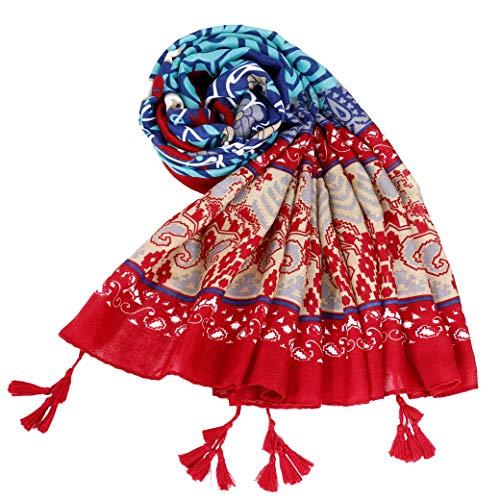 Pañuelo de Señora, Bufanda Mujer Invierno de Algodon de Impresion Elegante Larga Caliente Mantas Cozy Manton Panuelos Grandes para Otoño e Invierno Mantenga Caliente para su Cuerpo