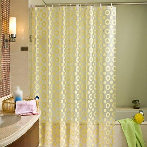 Rideaux de douche Style européen rideau de douche PEVA salle de bain étanche sécurité mode protection de l'environnement doux confortable Durable ( taille : 180X200CM )