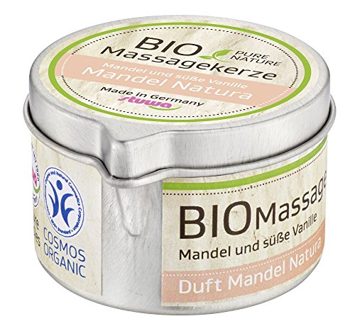 Stuwa Pure Nature Massagekerze Mandel Natura, 80 g