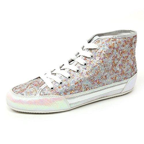 B4674 sneaker donna HOGAN H207 scarpa polacco multicolore paillettes shoe woman Multicolore