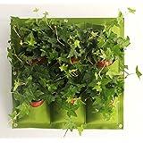 Outflower Sacs Végétaux Pot de fleur Pots de Plantation Paroi Verticale de la Plante Verte Tenture Stereo Flowerpot(0.5m*0.5m)