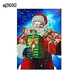 mAjglgE30 x 40 cm Kreuzstich Weihnachtsmann-Pferd Mehrform Diamant Gemälde DIY R8006, sj3002