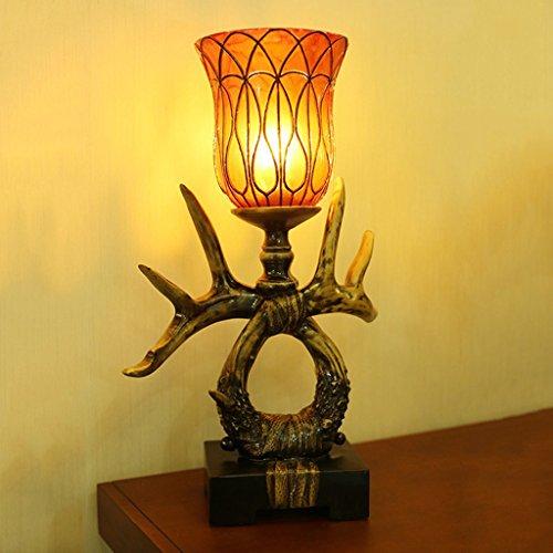 hmuck American Antlers Nachttisch Lampen ()