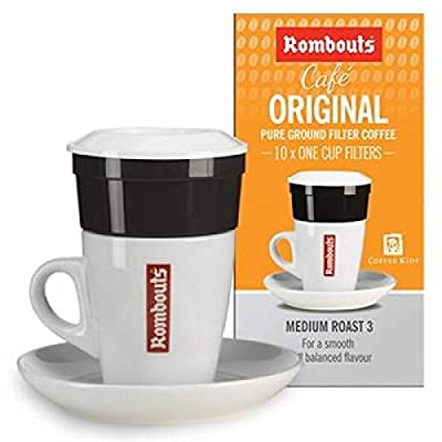 120 Rombouts Original Roast Ground Coffee / Filters - Medium Slow Roasted Blend from UK Business Supplies