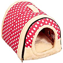 2 En 1 Cómodo Casa para Mascotas Y Sofá, Lavable A Máquina Casa Cama De