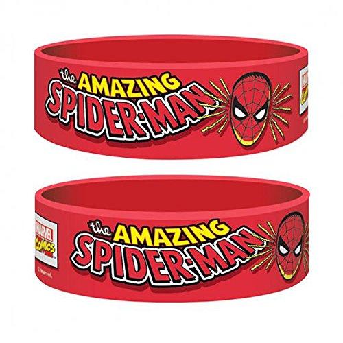 Marvel Retro - Spiderman - Silikon Armband für Sammler - Wristbands -24x65x1 mm (Sammler Maske)