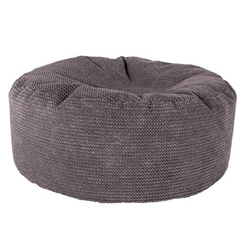 Lounge Pug®, Puff Taburete, Pompón - Carbón Gris