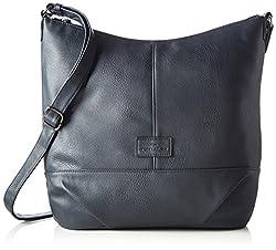 TOM TAILOR Shopper Damen, Miripu, (Blau), 10x33x35 cm, TOM TAILOR Taschen für Damen, Handtasche, Schultertasche, Hobo