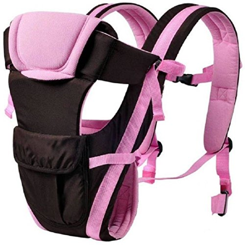 Chinmay Kids 4 In 1 Deluxe Series-4 way carrying position, with wide shoulder straps, adjustable belts and cushioned inner portions Baby Carrier (Pink)