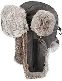 Stetson Boulder Fliegermütze für Damen und Herren Aviator Pilotenmützen Ushanka mit Futter, Klettverschluss Winter