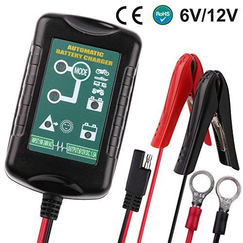 LotFancy 1.5A Chargeur de Batterie 6/12V Entièrement...