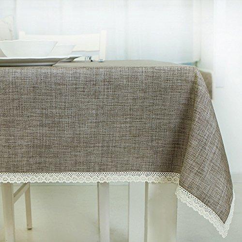 Imperméable nappe Nappe simple et moderne Tissu en tissu Tissu rectangulaire de salon ménager Petit chiffon à café frais (4 couleurs en option) (taille facultative) pour dîner ( Couleur : D , taille : 130*180CM )