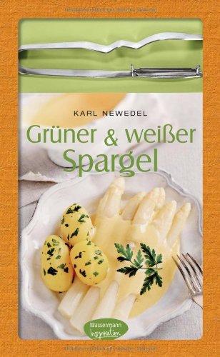 Grüner & weißer Spargel-Set: Buch mit hochwertigem Spargelschäler