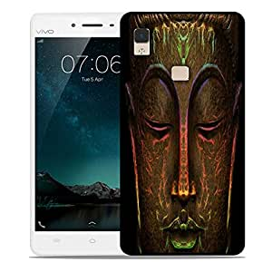 Snoogg Buddha Neon Designer Protective Back Case Cover For Vivo V3 Max