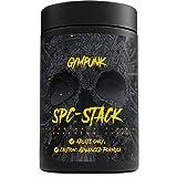 GYMPUNK SPC Stack, 120 vegane Kapseln, der natürliche ECA-Stack mit Synephrin, Piperin und Koffein, Hochdosierter hardcore F-Burner für Fortgeschrittene