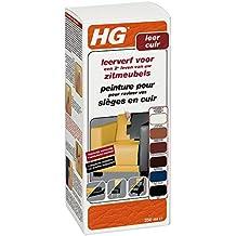HG - Pintura para muebles de cuero, 250 ml, color negro