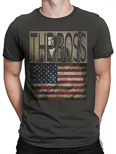LaMAGLIERIA T-Shirt Homme The Boss Bruce Springsteen USA Flag - 100% Coton