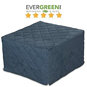 pouf lit pliant lit d 39 appoint avec matelas en mousse polyur thane couchage 70x200 cm amazon. Black Bedroom Furniture Sets. Home Design Ideas