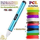 3D Stift Set mit OLED Display, niedrige Temperatur 3D Pen, sicher für Kinder, Erwachsene und Bastler zu kritzeleien, basteln, malen und 3D drücken (nur kompatibel mit PCL Filament,nicht kompatibel mit PLA und ABS )