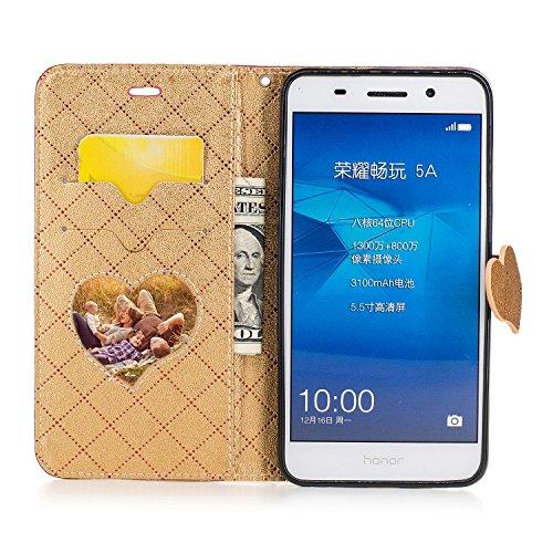 Qiaogle Telefon Case - PU Leder Wallet Schutzhülle Case für Apple iPhone 6 Plus / iPhone 6S Plus (5.5 Zoll) - BF88 / Weiß BF83 / Rote
