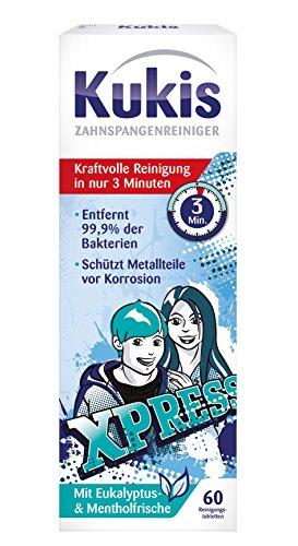 Kukident 14287 Kukis Zahnspangen-Reiniger, 2x30er